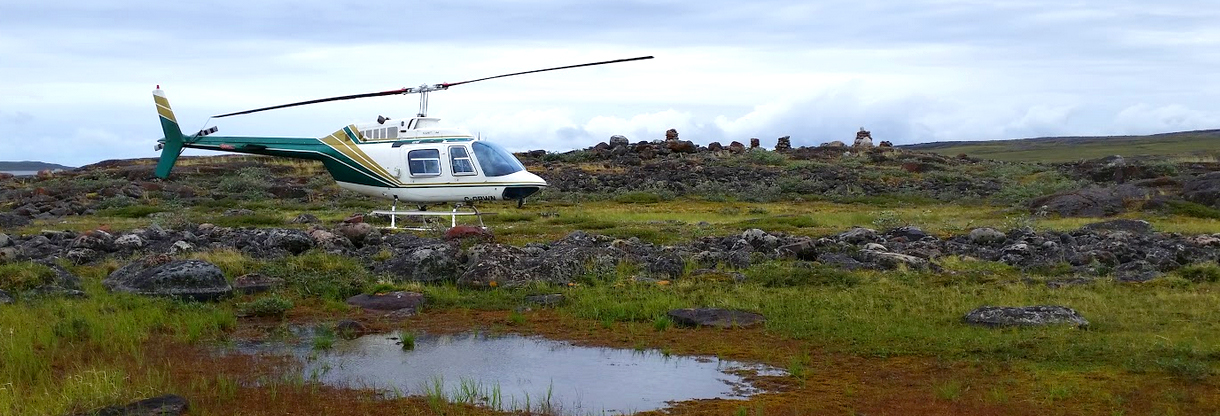 Helicopter In Churchill Manitoba