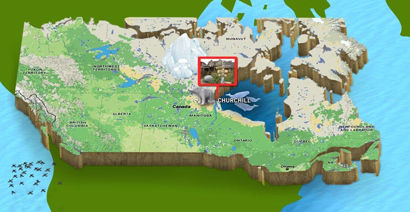 3D Map Churchill Manitoba
