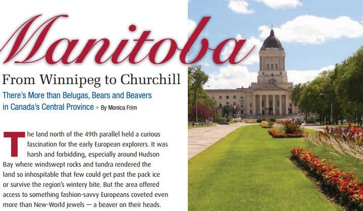 Manitoba From Winnipeg- To Churchill