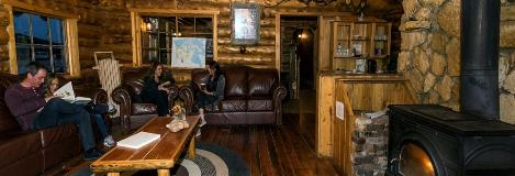 Lazy Bear Lodge Lounge In Churchill Manitoba