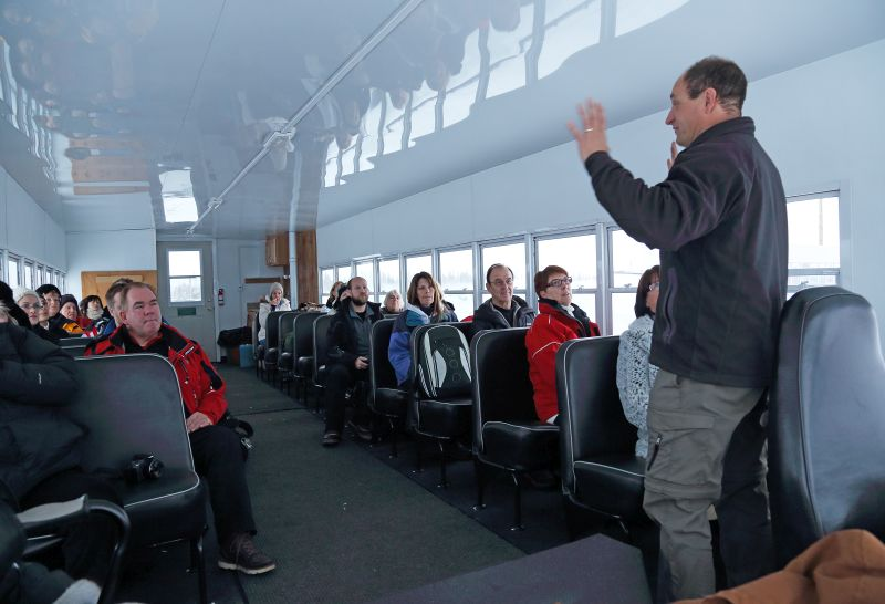 Tour Guide Talking To Group In Churchill Manitoba