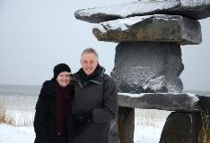 Couple Photo At Attraction In Churchill Manitoba