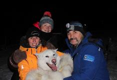 Group With Dog In Churchill Manitoba